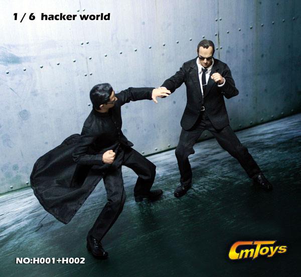 New Product Cmtoys Hacker World 1 6 Matrix Neo Amp Agent